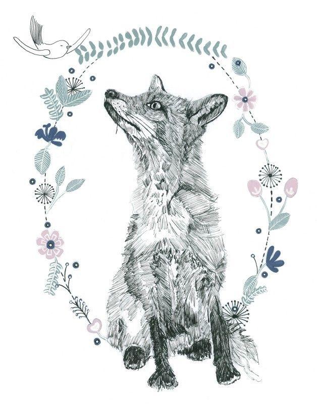 Vos illustratie | Liefs van Maantje