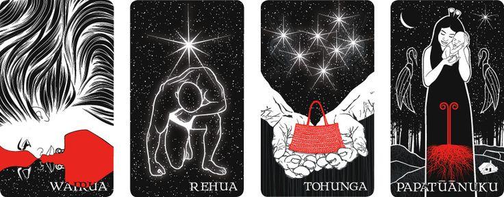 B.WAIPUKA ART - Niu-He Tangata Matauhi (Voices of the Ancestors) Maori oracle cards