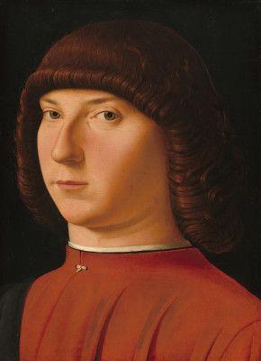 Attributed to Antonello da Messina Antonello da Messina Sicilian, c. 1430 - 1479 Portrait of a Young Man c. 1475/1480 tempera and oil on poplar panel