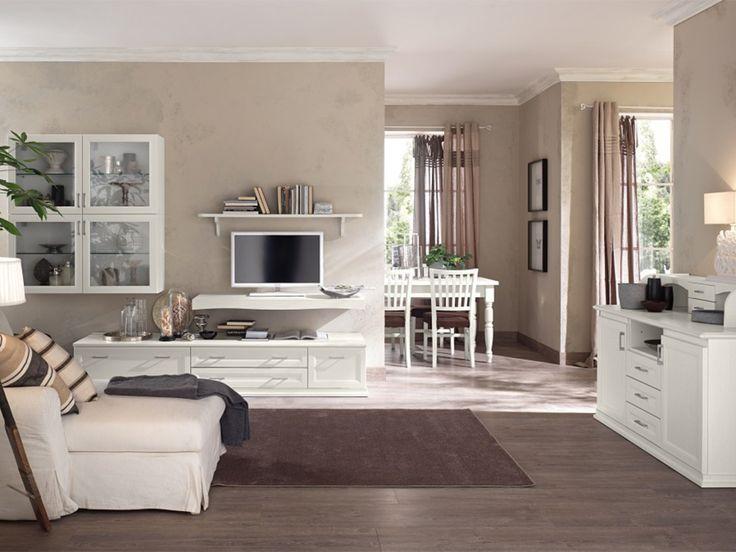soggiorno classico bianco vintage