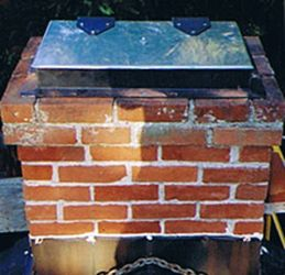 Chimney Covers can protect the chimney flue and solve a drafty chimney problem.