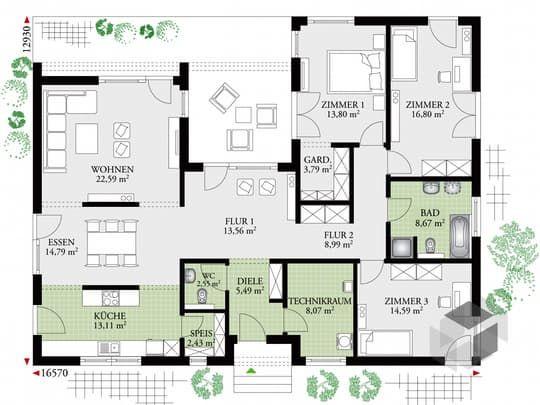 perfect 149 cube von dan wood cubus haus flachdach grundriss pinterest bungalow cube. Black Bedroom Furniture Sets. Home Design Ideas