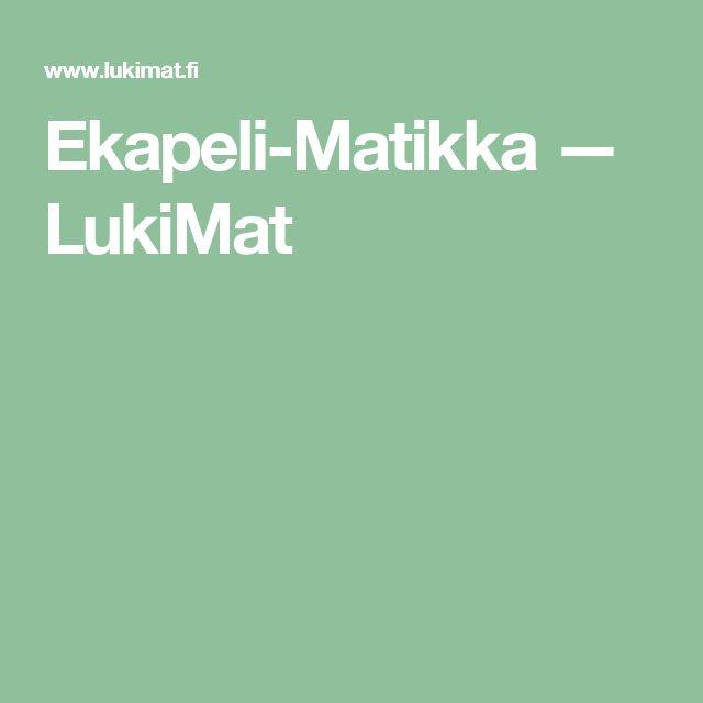 Ekapeli-Matikka — LukiMat