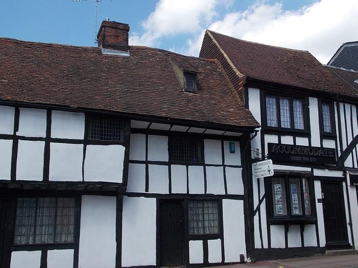 Medieval buildings in Maidstone, Kent, UK (photo by Barbara Lowe)