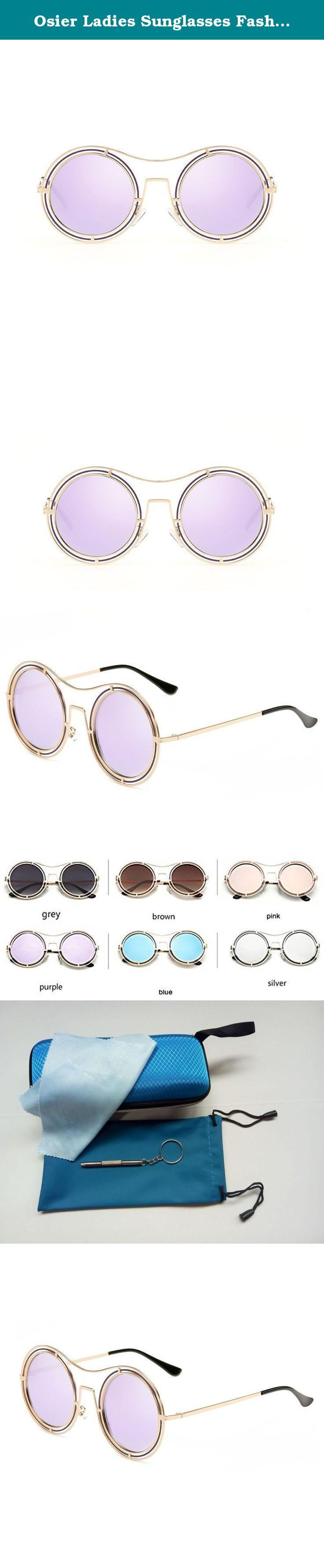 Osier Ladies Sunglasses Fashion Round Mirrored Lens shades for Driving Fishing. Best Quality Sunglasses Exquisite Quality: With sophisticated technology and good materials, made a good quality sunglasses. Comfortable Mirror Legs: Arc design, wear comfort,do not clip the face,bring quality wear experience. Nose Pads: Selection of silicone nose pads,comfortable design, long time wear nose also won't have a sense of oppression. Reinforced Hinge: Cupronickel reinforced hinge assembly, tens of...