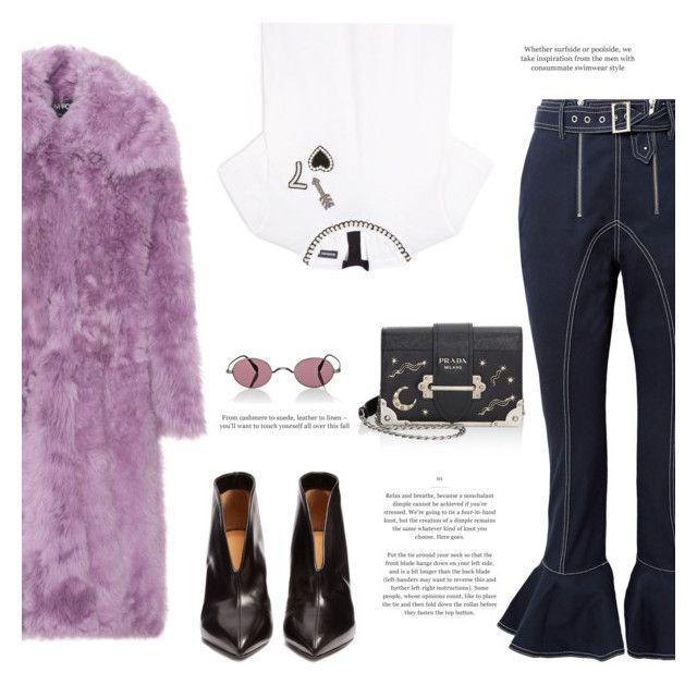 """""""Outfit #85: Isabel Marant x Tom Ford x Self-Portrait"""" by mariluz-garcia ❤ liked on Polyvore featuring self-portrait, Tom Ford, Isabel Marant, Markus Lupfer, Prada and Oliver Peoples"""