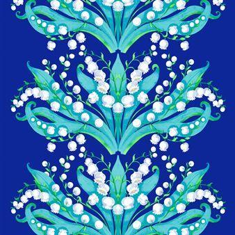 Kielo vaxduk - blå - Vallila Interior