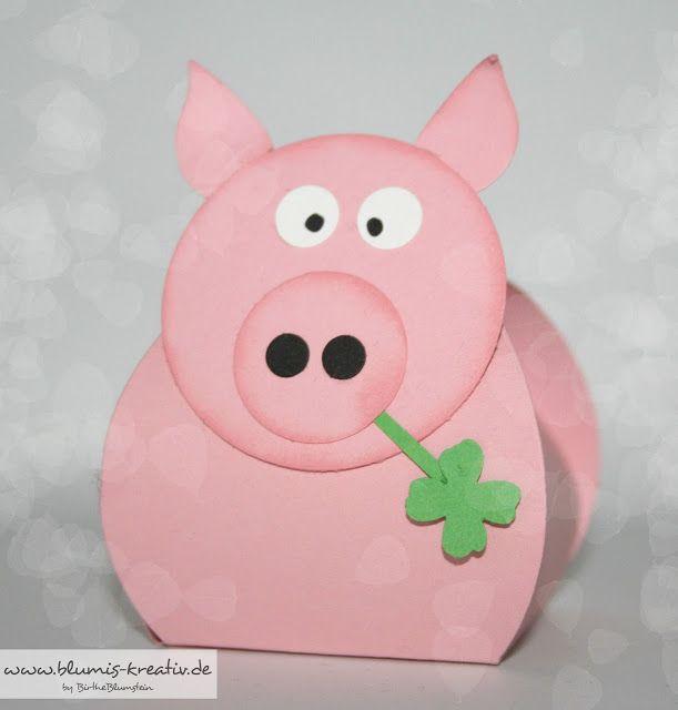 Pig. Blumis kreativ Blog: Glücksschweinchen zum neuen Jahr