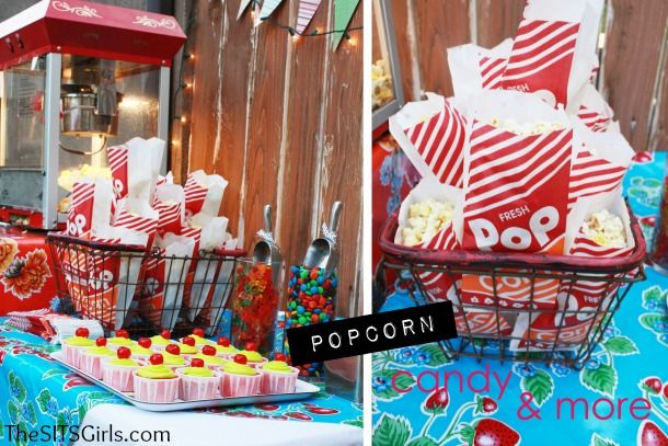 Back Yard Movie Night Ideas   ... parts about watching a movie is the food at goes along with it
