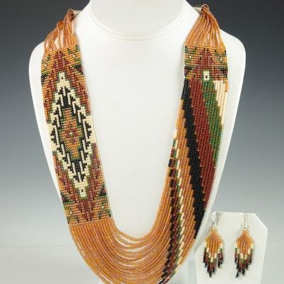 Rena Charles Beaded Navajo Necklace