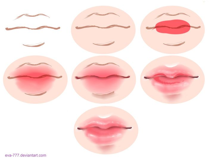 The lesson lips draw sai by EVA-777.deviantart.com on ...