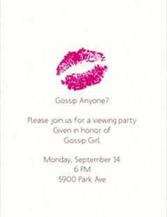 gossip girl party invite