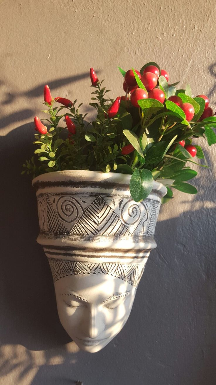 African wall planter