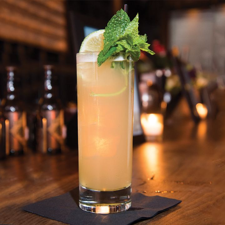 Northern Harvest Buck: This take on the Whiskey Ginger (a.k.a the Irish Buck) adds a squeeze of lime and some bitters, which complement the slightly spicy but smooth Crown Royal Northern Harvest rye.
