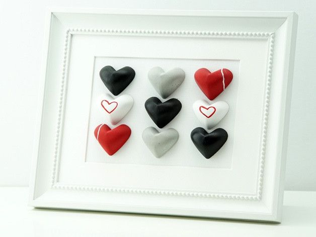 Herz Bild | Dekoration | Geschenk | Tafelfarbe von von Herzen  auf DaWanda.com