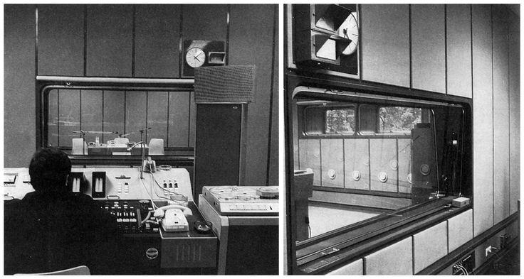 ORF - Austrian State Radio studio Eisenstadt, Burgenland, Austria; 1970