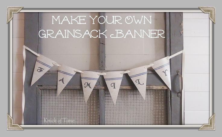 Grain Sack Banner {Printable}  ~~via Knick of Time