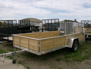 Aluminum frame with wood floor and sides trailer rehab for Wood floor utility trailer