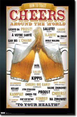 Cheers!: Around The Worlds, 9000 Beer, Cheer Posters, Art Posters, Crafts Beer, Beer Knowledge, Beer Things, Beer Signs, Beer Fans