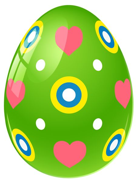 images of easter  png | Green Easter Egg with Hearts PNG Clipart Picture