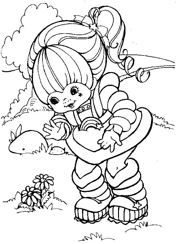 rainbow brite printable coloring pages - Rainbow Picture To Colour