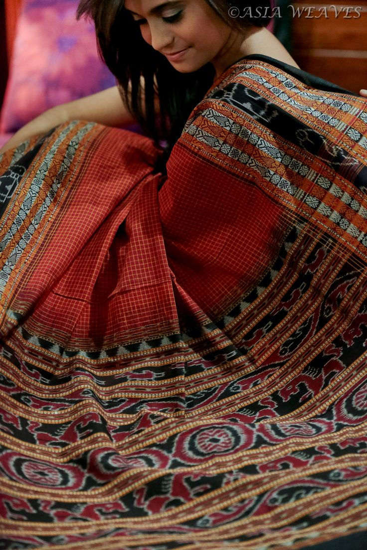 The beauty of everything handmade - a tribal handwoven saree