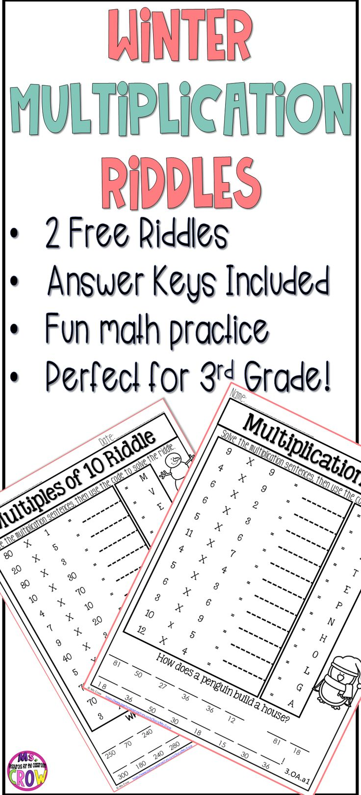 Best 25 maths times tables ideas on pinterest math tables two multiplication riddlesjokes combined with multiplication practice answer gamestrikefo Gallery