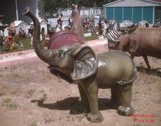 Puppies Elephant Statue