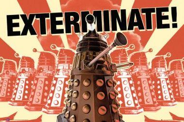 Doctor Who Daleks Exterminate - plakat