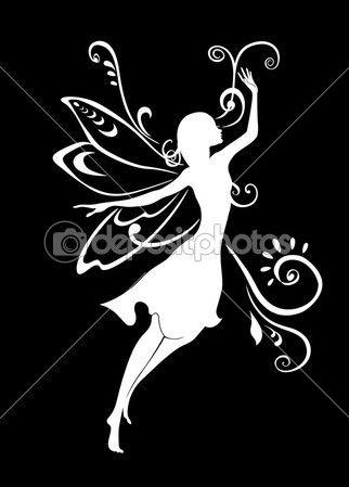vector illustratie silhouet van funky Feetjie op patroon ontwerp met bloemen
