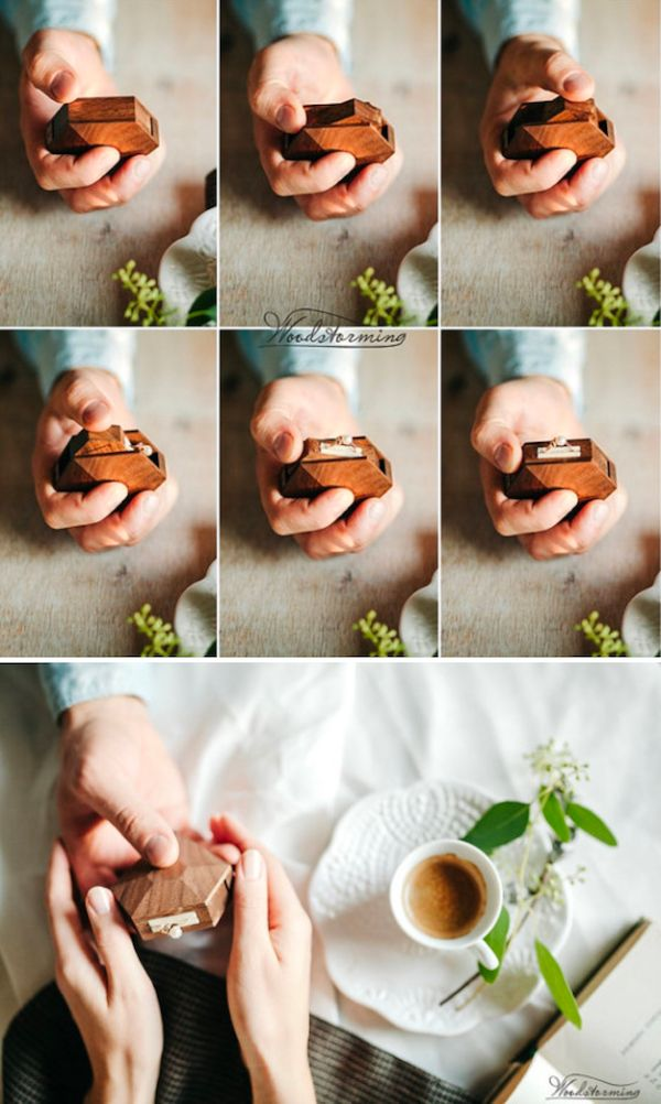 These custom wooden ring boxes by Woodstorming are perfect for a wedding proposal or simply housing jewelry.