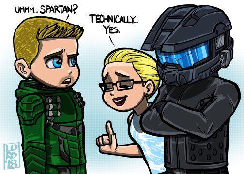 """""""Spartan?"""" @david_ramsey @StephenAmell @EmilyBett @CW_Arrow @ARROWwriters @ArrowProdOffice #lordmesaart"""