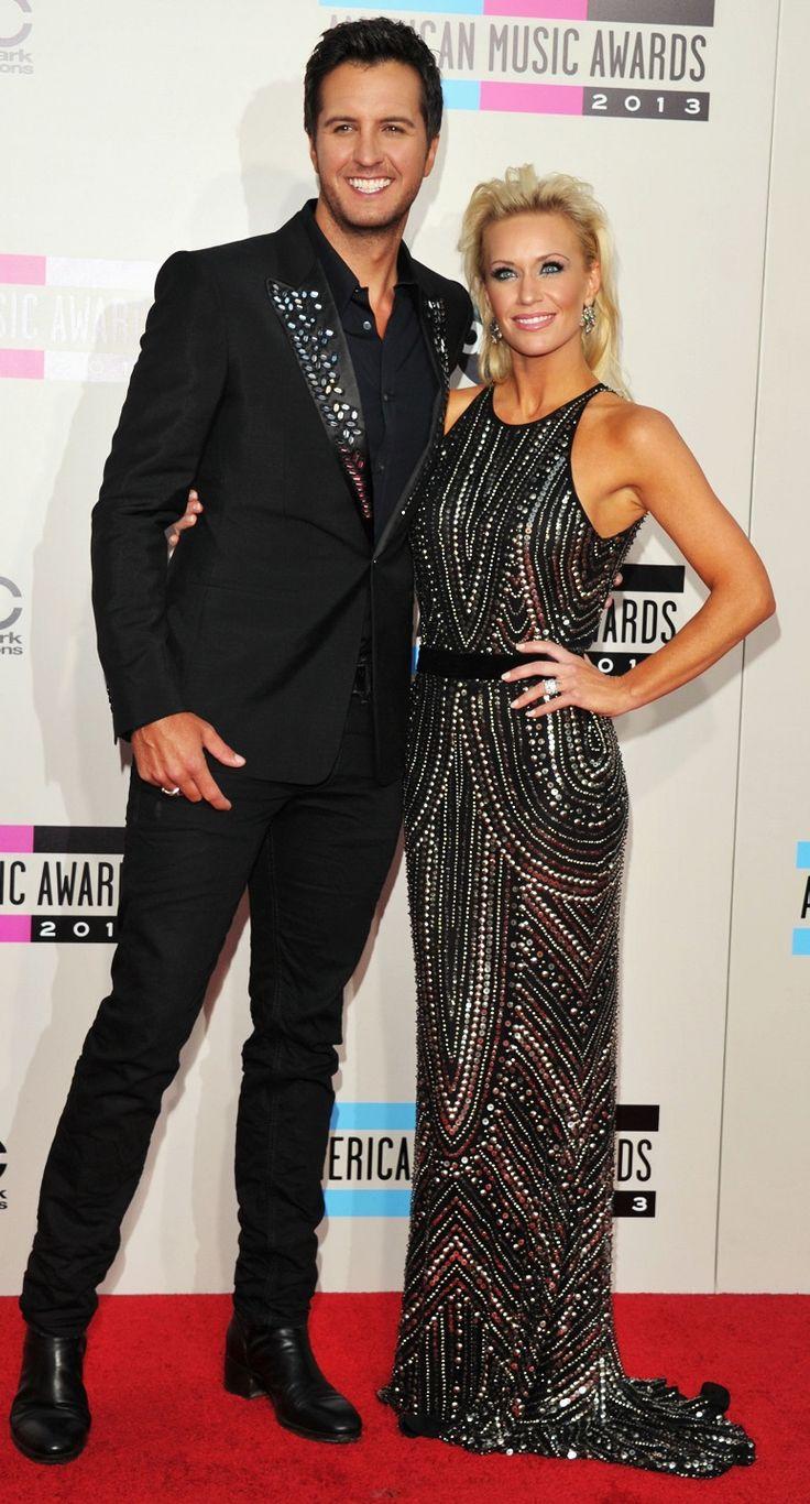 Luke Bryan & Caroline Boyer at the 2013 AMAs