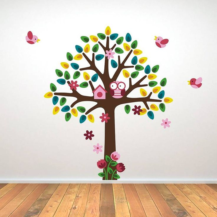 girls nursery tree wall sticker by mirrorin | notonthehighstreet.com