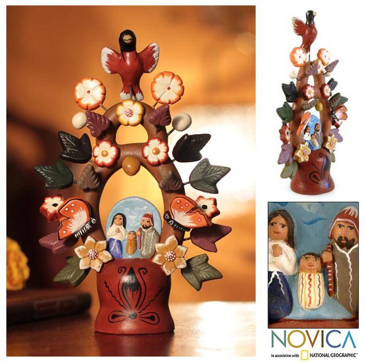 Ceramic nativity scene, 'Christmas Tree of Life