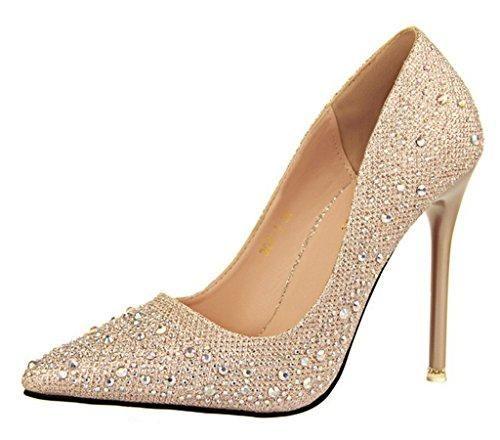Oferta: 19.92€. Comprar Ofertas de Minetom Mujer Primavera Dulce Boda Zapatos de Tacón Elegante Brillante Rhinestone Zapatos Tacón Alto Zapatos Pumps Stiletto D barato. ¡Mira las ofertas!