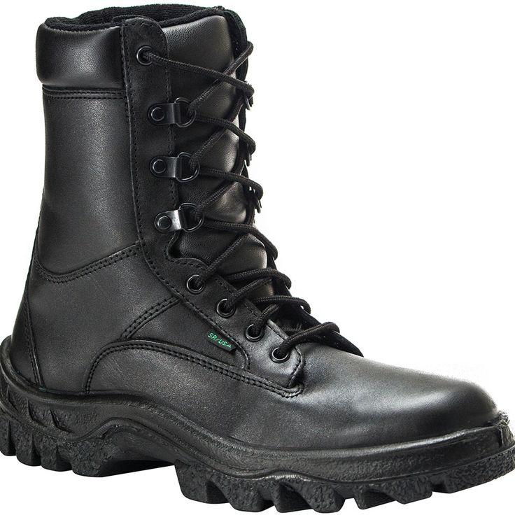 Men's Work Boots For Sale Rocky Postal TMC Athletic Men Hiker Black Leather 5015 Best Brand