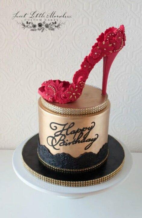 Red Stiletto Heel Cake by Stephanie