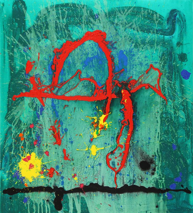 John Hoyland - Jade Lair 5-11-09, 2009, acrylic on canvas, 127 x 114 cm