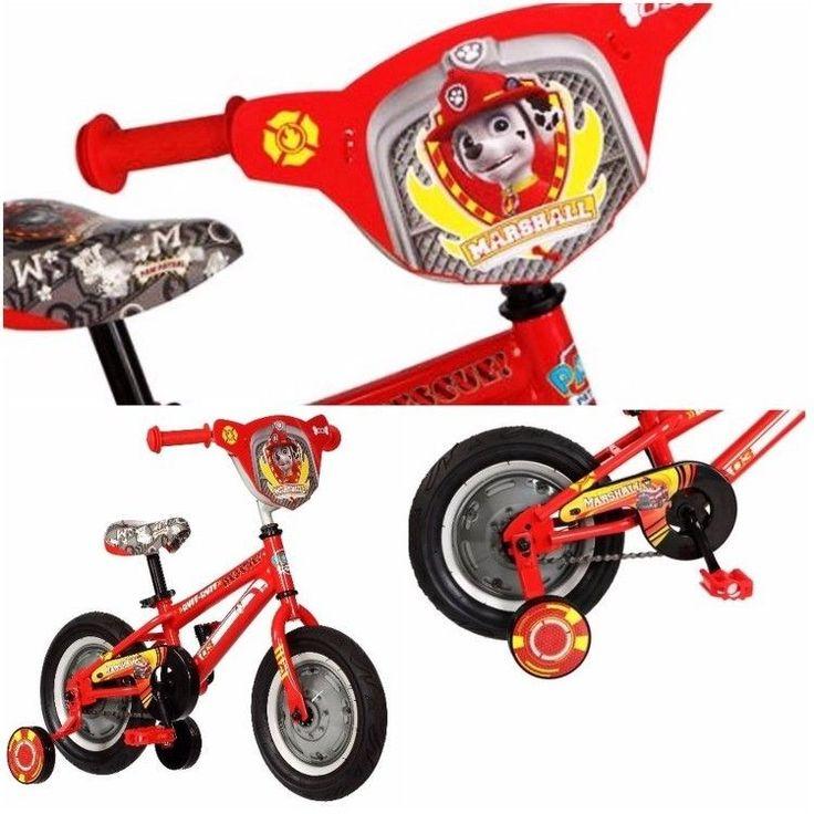 12 inch Paw Patrol Boys Bike Toddler Bicycle Training Wheels Kids New