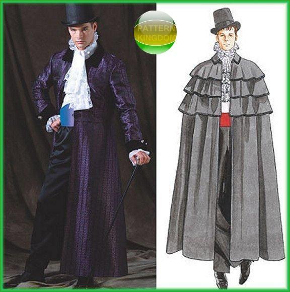 Mccalls 4550 Victorian Gothic Frock Coat Cloak Patterns