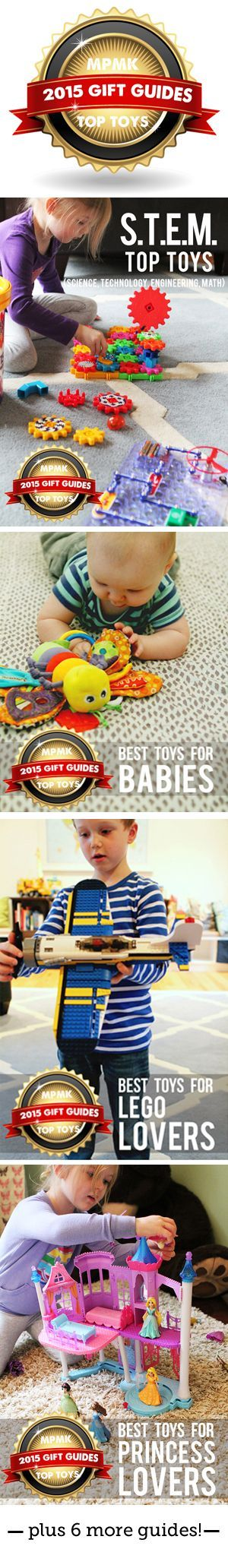MPMK Toy Gift Guides- Best gift guides out there for kids... Use them every year to find great toys that will keep the kids engaged again and again!
