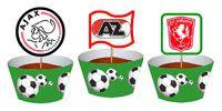 Voetbal cupcake met eigen voetbal logo