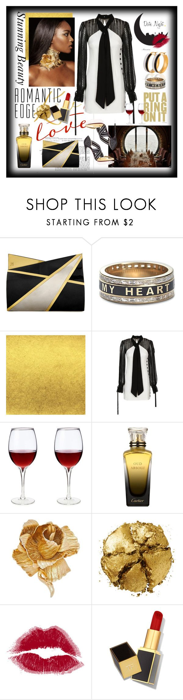 """Sidney Larae"" by onkei ❤ liked on Polyvore featuring Jill Haber, Foundrae, self-portrait, Cartier, Christian Dior, Pat McGrath and Tom Ford"