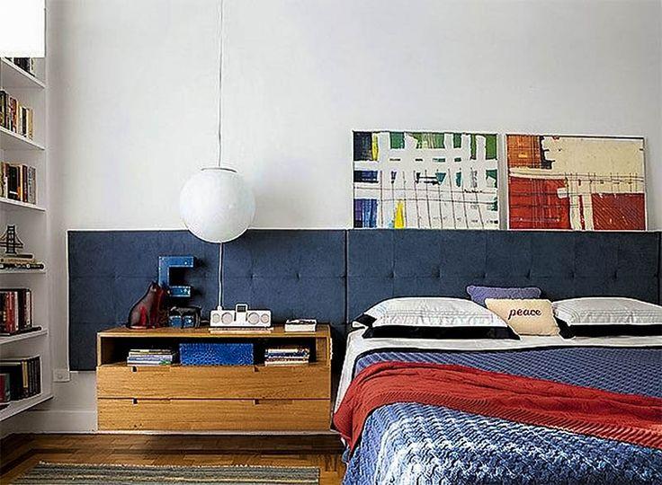 4- cabeceira estofada cinza www.cortinas.art.br