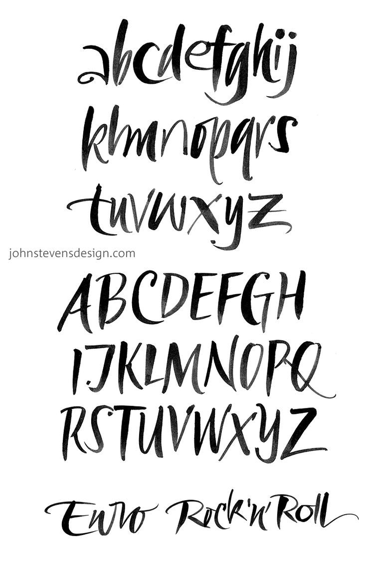 Free brush alphabet exemplar john stevens design
