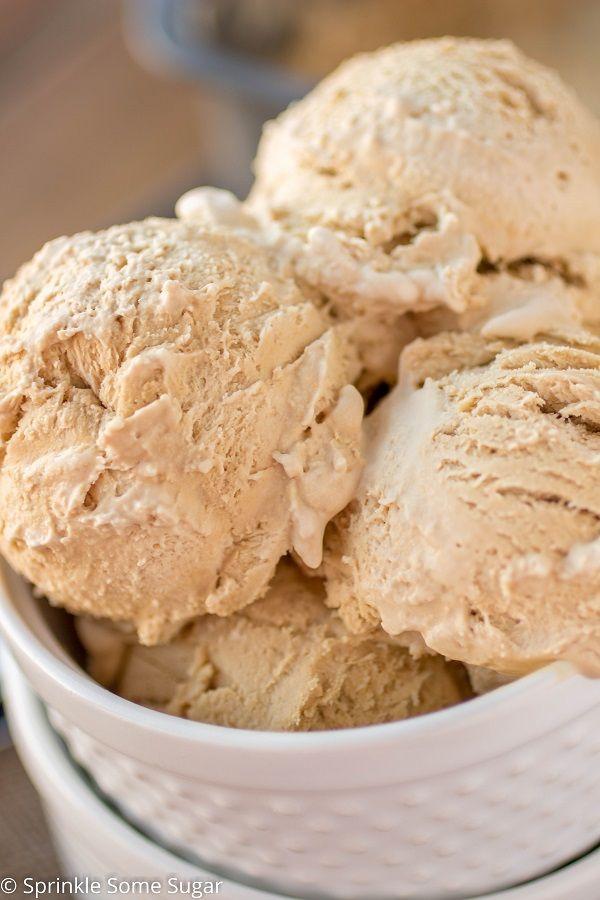 No-Churn Coffee Ice Cream - Sprinkle Some Sugar