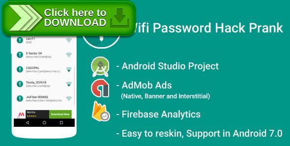 [ThemeForest]Free nulled download WiFi Password Hack Prank With Admob Ads + Google Analytics + Firebase Integration from http://zippyfile.download/f.php?id=57474 Tags: ecommerce, admob, andorid, app, application, Firebase Integration, google analytics, hacker, list, password, password hack. prank, tool, wifi