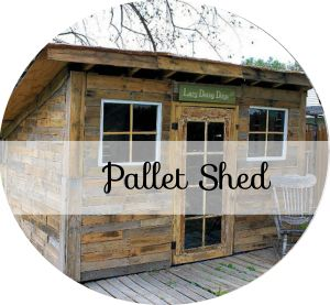 DIY Pallet Shed - MAKE  a shed yourself using pallets - great info, design, appeal for my garden ;)