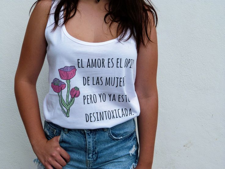 CAMISETA FEMINISTA TIRANTES - EL AMOR ES EL OPIO DE LAS MUJERES - FEMME PUNK SHOP - ALGODÓN ORGÁNICO - COMERCIO JUSTO - KATE MILLET